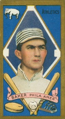 1911 Gold Borders Frank Baker #7 Baseball Card