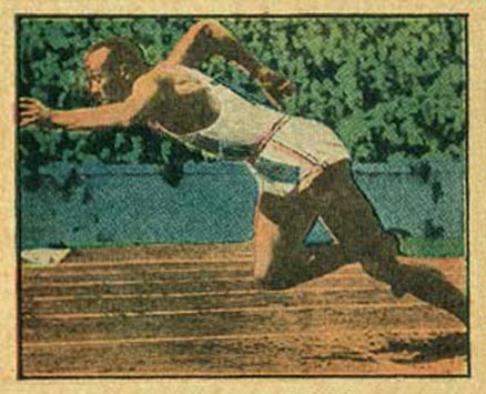 1951 Berk Ross Jesse Owens #3-18 Boxing & Other Card