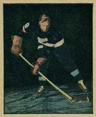 1951 Berk Ross Bill Quackenbush #1-18 Hockey Card