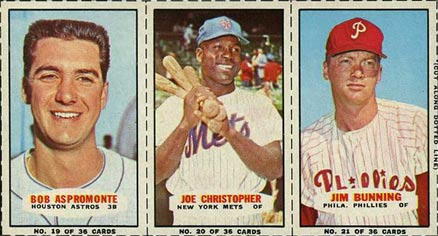 1965 Bazooka Panel Aspromonte/Christopher/Bunning #7 Baseball Card