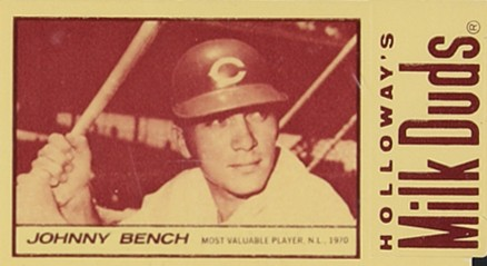 1971 Milk Duds Johnny Bench #6 Baseball Card