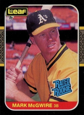 1987 Leaf Mark McGwire #46 Baseball Card