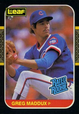 1987 Leaf Greg Maddux #36 Baseball Card