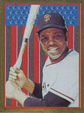 1983 Topps Stickers Willie Mays #3 Baseball Card