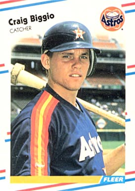 1988 Fleer Update Craig Biggio #89 Baseball Card