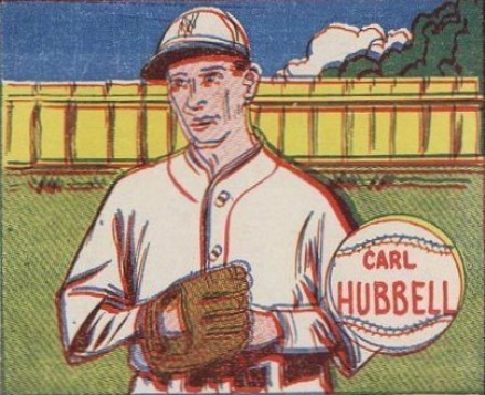 1943 M.P. & Co. Carl Hubbell # Baseball Card