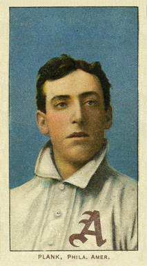 1909 White Borders (Piedmont & Sweet Caporal) Eddie Plank #395 Baseball Card