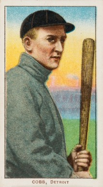 1909 White Borders (Piedmont & Sweet Caporal) Ty Cobb #98 Baseball Card