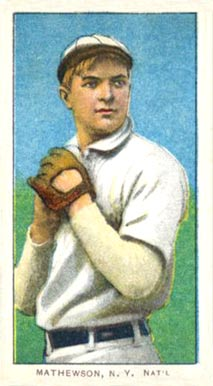1909 White Borders (Piedmont & Sweet Caporal) Christy Mathewson #309 Baseball Card