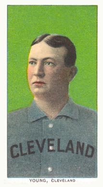 1909 White Borders (Piedmont & Sweet Caporal) Cy Young #523 Baseball Card