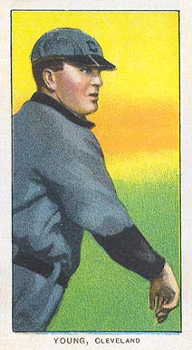 1909 White Borders (Piedmont & Sweet Caporal) Cy Young #522 Baseball Card