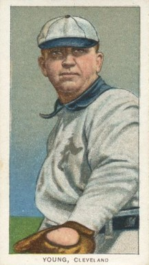 1909 White Borders (Piedmont & Sweet Caporal) Cy Young #521 Baseball Card