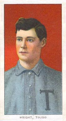 1909 White Borders (Piedmont & Sweet Caporal) Lucky Wright #520 Baseball Card