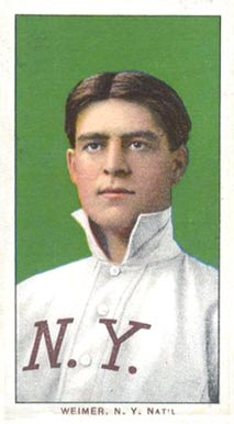 1909 White Borders Piedmont & Sweet Caporal Weimer, N.Y. Nat'L #501 Baseball Card