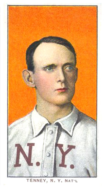 1909 White Borders (Piedmont & Sweet Caporal) Fred Tenney #480 Baseball Card