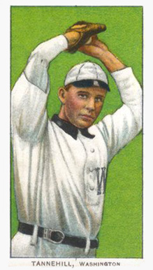 1909 White Borders (Piedmont & Sweet Caporal) Jesse Tannehill #476 Baseball Card