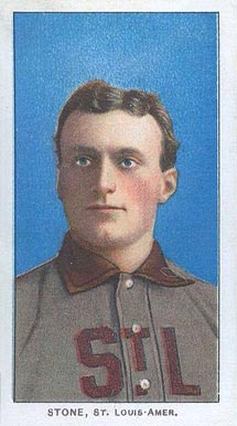 1909 White Borders (Piedmont & Sweet Caporal) George Stone #466 Baseball Card