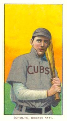 1909 White Borders Piedmont & Sweet Caporal Schulte, Chicago Nat'L #430 Baseball Card