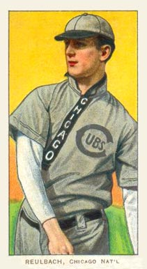 1909 White Borders (Piedmont & Sweet Caporal) Ed Reulbach #407 Baseball Card