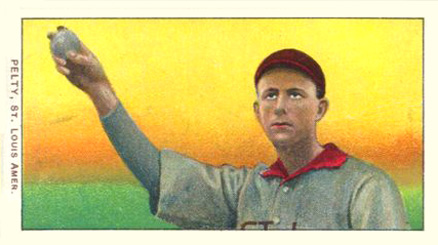 1909 White Borders (Piedmont & Sweet Caporal) Barney Pelty #383 Baseball Card
