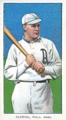 1909 White Borders (Piedmont & Sweet Caporal) Rube Oldring #366 Baseball Card