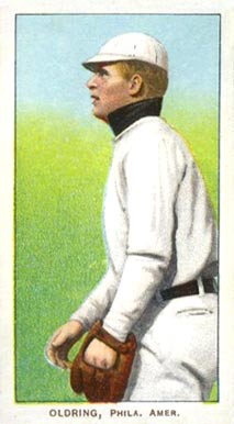 1909 White Borders (Piedmont & Sweet Caporal) Rube Oldring #367 Baseball Card