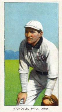 1909 White Borders (Piedmont & Sweet Caporal) Simon Nicholls #358 Baseball Card