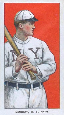 1909 White Borders (Piedmont & Sweet Caporal) Red Murray #352 Baseball Card