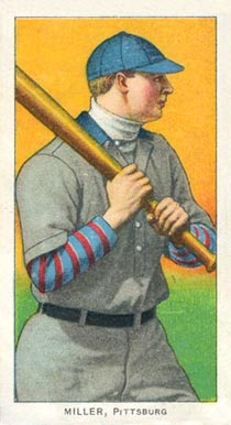1909 White Borders (Piedmont & Sweet Caporal) Dots Miller #335 Baseball Card