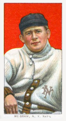 1909 White Borders (Piedmont & Sweet Caporal) John McGraw #323 Baseball Card