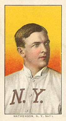 1909 White Borders (Piedmont & Sweet Caporal) Christy Mathewson #308 Baseball Card