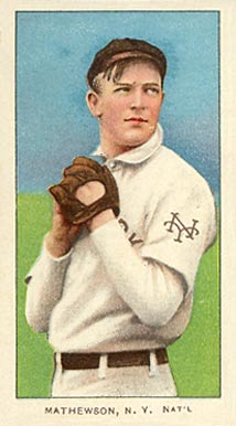 1909 White Borders (Piedmont & Sweet Caporal) Christy Mathewson #307 Baseball Card