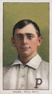 1909 White Borders (Piedmont & Sweet Caporal) Sherry Magee #296 Baseball Card
