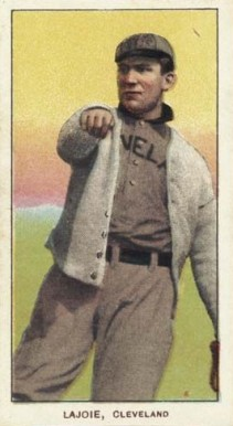 1909 White Borders (Piedmont & Sweet Caporal) Nap Lajoie #270 Baseball Card
