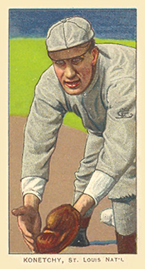 1909 White Borders Piedmont & Sweet Caporal Konetchy, St. Louis Nat'L #263 Baseball Card