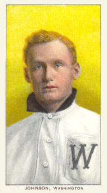 1909 White Borders (Piedmont & Sweet Caporal) Walter Johnson #236 Baseball Card