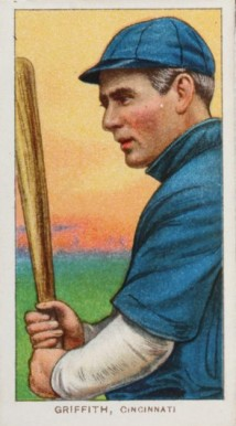 1909 White Borders (Piedmont & Sweet Caporal) Clark Griffith #195 Baseball Card