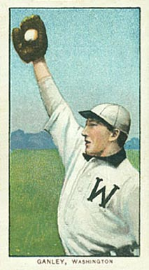 1909 White Borders (Piedmont & Sweet Caporal) Bob Ganley #184 Baseball Card