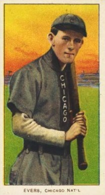 1909 White Borders (Piedmont & Sweet Caporal) Johnny Evers #167 Baseball Card