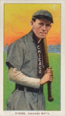 1909 White Borders Piedmont & Sweet Caporal Johnny Evers #167 Baseball Card