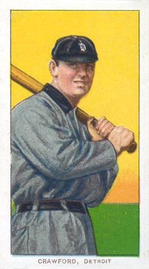 1909 White Borders (Piedmont & Sweet Caporal) Sam Crawford #112 Baseball Card
