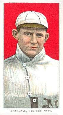 1909 White Borders (Piedmont & Sweet Caporal) Doc Crandall #108 Baseball Card