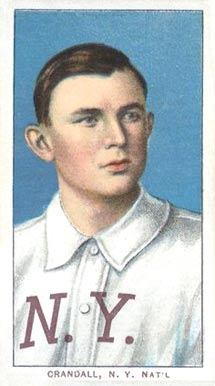 1909 White Borders (Piedmont & Sweet Caporal) Doc Crandall #107 Baseball Card