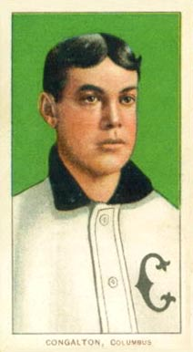 1909 White Borders (Piedmont & Sweet Caporal) Bunk Congalton #103 Baseball Card