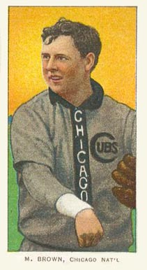 1909 White Borders (Piedmont & Sweet Caporal) Mordecai Brown #57 Baseball Card