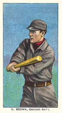 1909 White Borders (Piedmont & Sweet Caporal) George Browne #55 Baseball Card