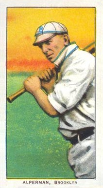 1909 White Borders (Piedmont & Sweet Caporal) Whitey Alperman #6 Baseball Card
