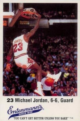 1987 Entenmann's Michael Jordan #23 Basketball Card