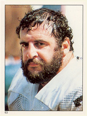 1981 Topps Stickers Lyle Alzado #63 Football Card