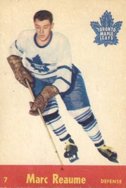 1955 Quaker Oats Marc Reaume #7 Hockey Card